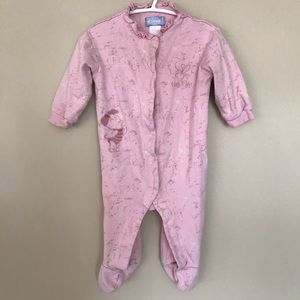 5/$25 DISNEY Piglet Snap pyjamas in pink w/ruffle